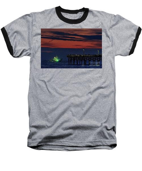 Night Fishing Baseball T-Shirt