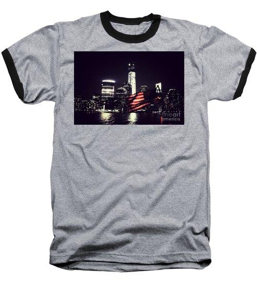 Night Flag Baseball T-Shirt