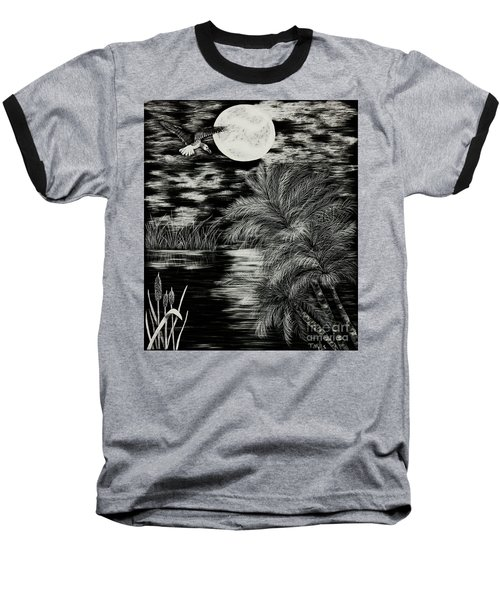 Night Flight Baseball T-Shirt by Terri Mills