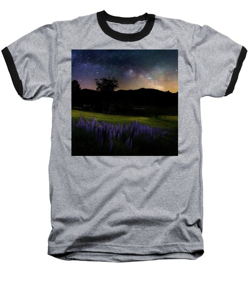 Baseball T-Shirt featuring the photograph Night Flowers Square by Bill Wakeley