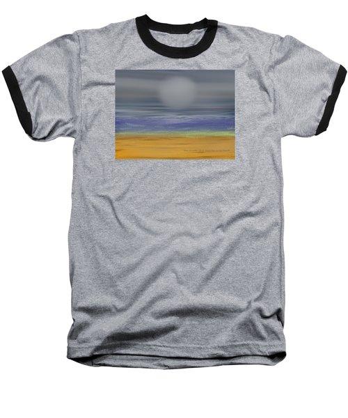 Night Fog On The Beach Baseball T-Shirt