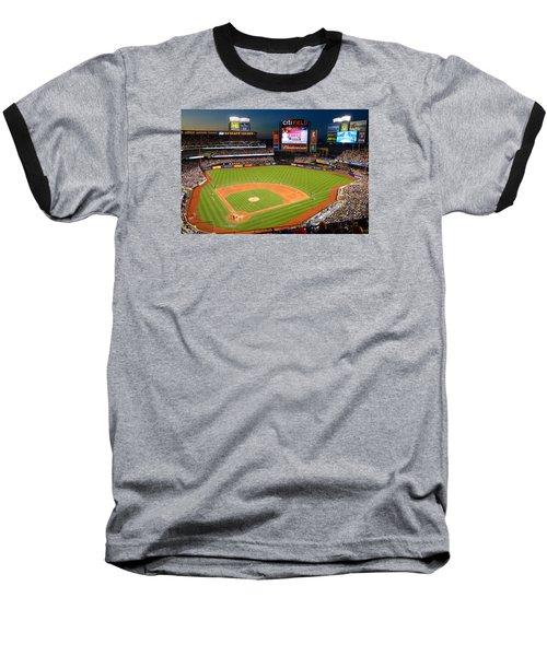 Night Game At Citi Field Baseball T-Shirt