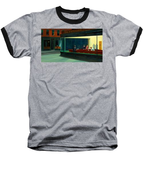 Night Hawks Baseball T-Shirt by Edward Hopper