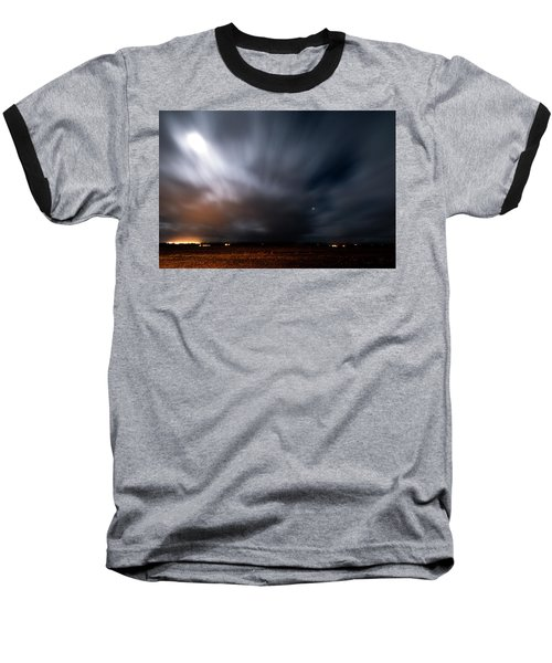 Baseball T-Shirt featuring the photograph Night In Iceland by Dubi Roman
