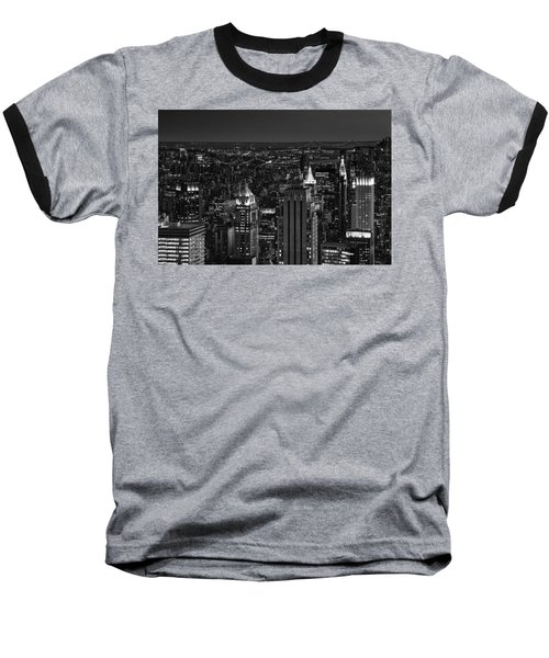 Night In Manhattan Baseball T-Shirt