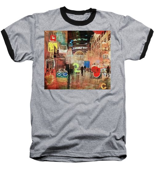 Baseball T-Shirt featuring the photograph Night In The City by Susan Stone