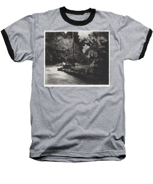 Night In The Park Baseball T-Shirt