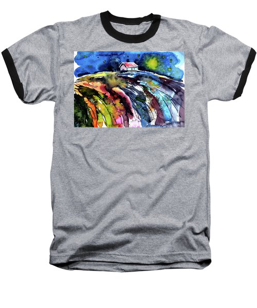 Night Baseball T-Shirt by Kovacs Anna Brigitta