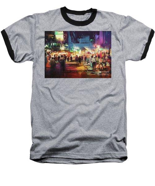 Night Market Baseball T-Shirt