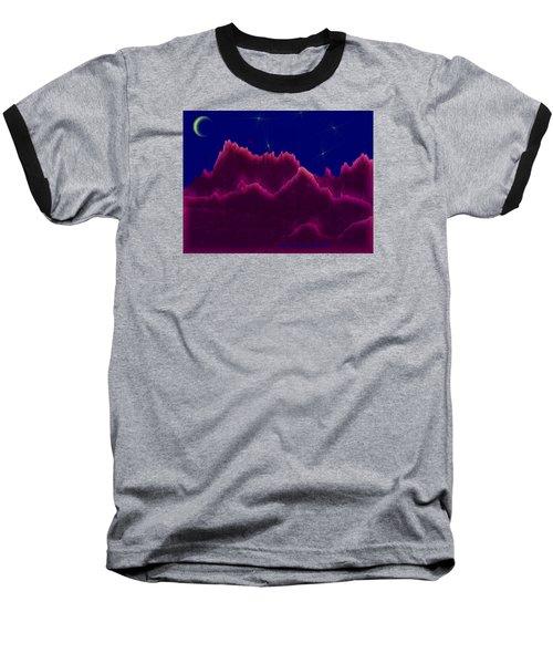 Night. Moon Baseball T-Shirt