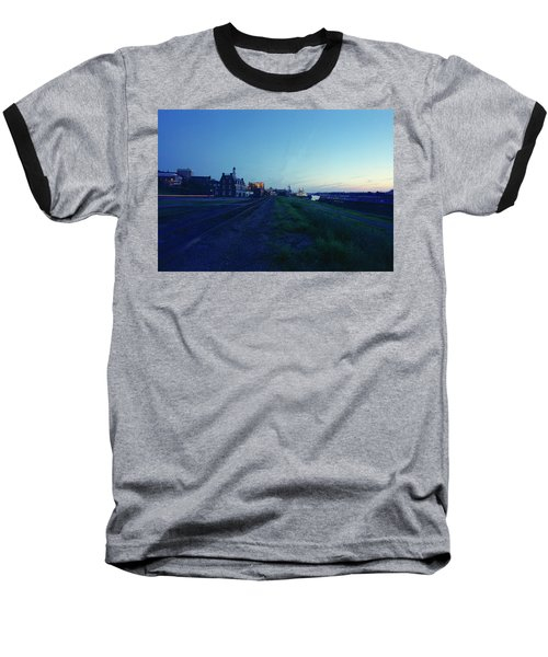 Night Moves On The Mississippi Baseball T-Shirt by Jan W Faul