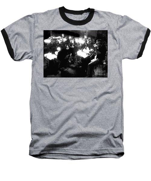 Night Music Baseball T-Shirt by Felipe Adan Lerma