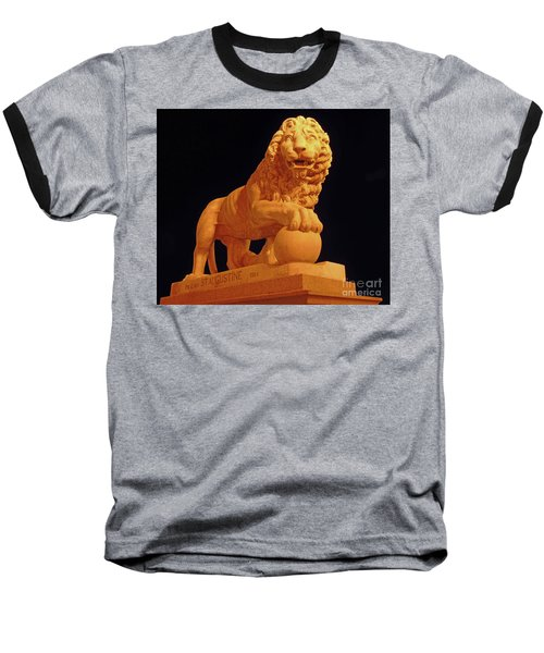 Night Of The Lion Baseball T-Shirt