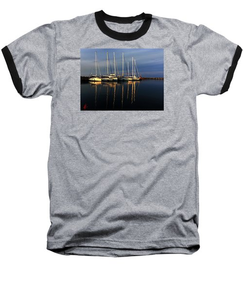 Night On Paros Island Greece Baseball T-Shirt