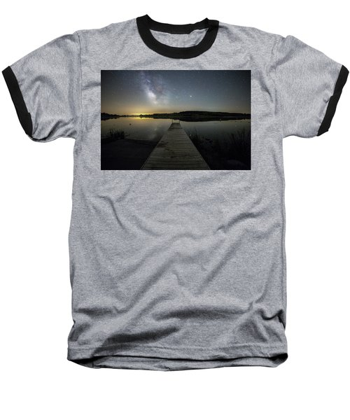 Baseball T-Shirt featuring the photograph Night On The Dock by Aaron J Groen