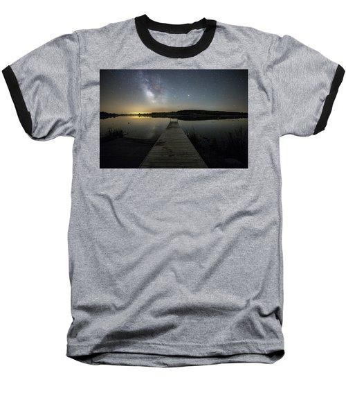 Night On The Dock Baseball T-Shirt