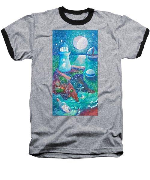 Night Out At Sea Baseball T-Shirt