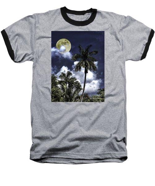 Baseball T-Shirt featuring the photograph Night Palms by Ken Frischkorn