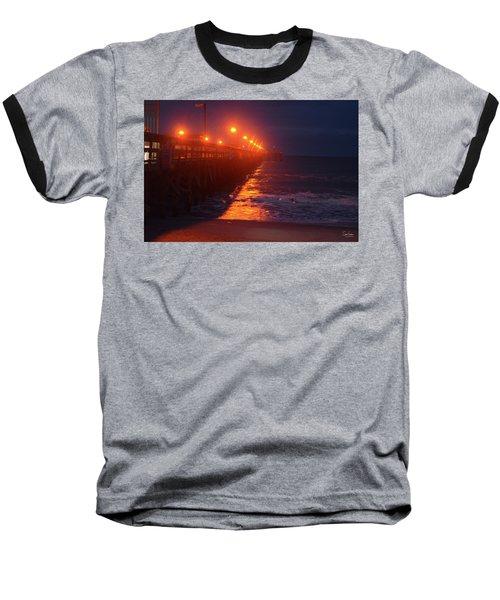 Night Pier Baseball T-Shirt