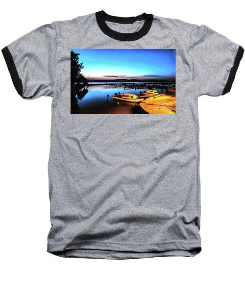 Night Port Painting Baseball T-Shirt
