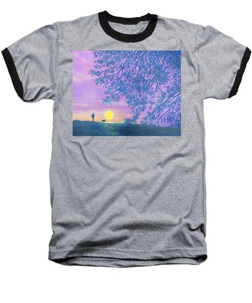 Night Runner Baseball T-Shirt by Susan DeLain