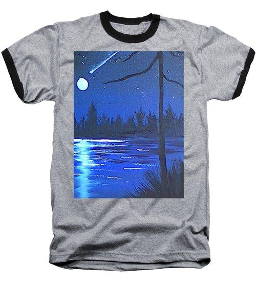Night Scene Baseball T-Shirt