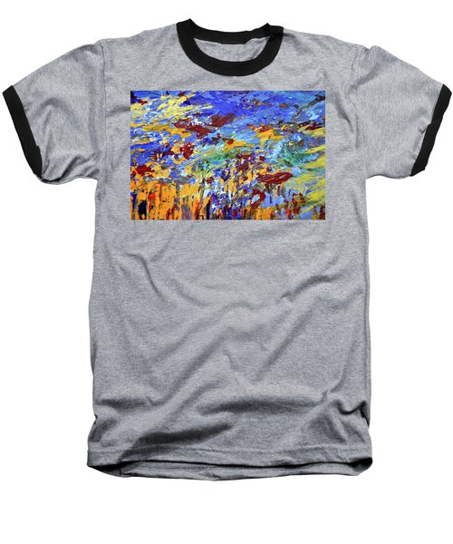Night Sea Scape Baseball T-Shirt
