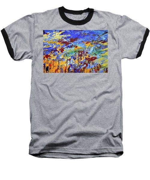 Night Sea Scape Baseball T-Shirt