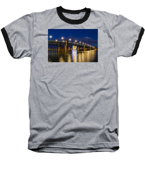 Night Shot Of The Pont Saint-pierre Baseball T-Shirt by Semmick Photo