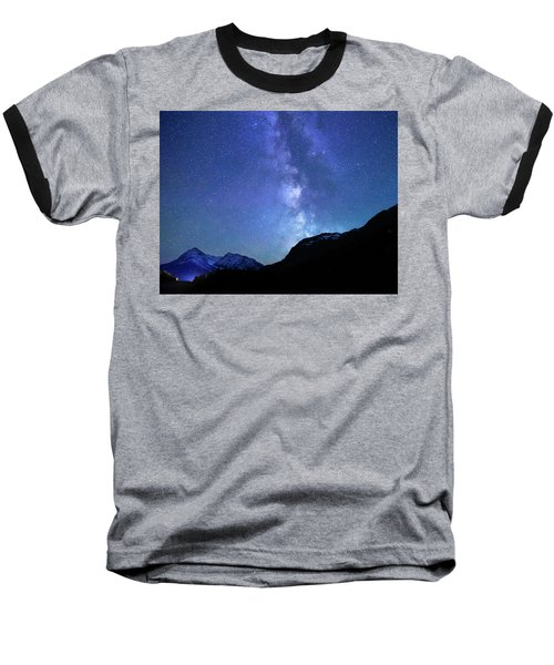 Baseball T-Shirt featuring the photograph Night Sky In David Thomson Country by Dan Jurak