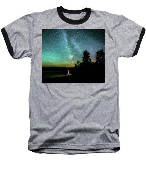 Night Sky Baseball T-Shirt by Rose-Marie Karlsen