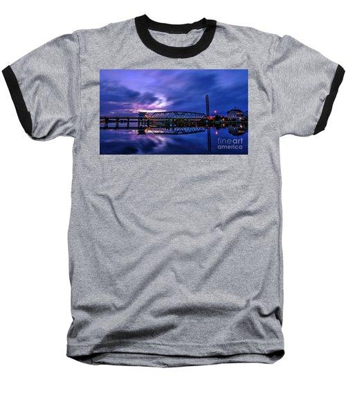 Night Swing Bridge Baseball T-Shirt
