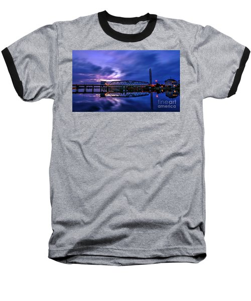 Night Swing Bridge Baseball T-Shirt