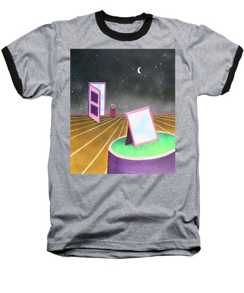 Baseball T-Shirt featuring the painting Night by Thomas Blood
