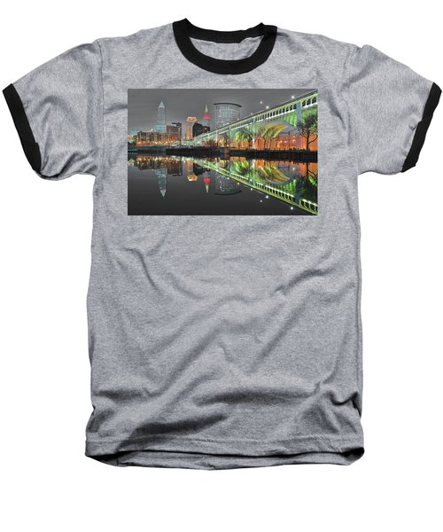 Baseball T-Shirt featuring the photograph Night Time Glow by Frozen in Time Fine Art Photography