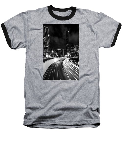 Night Time In The City  Baseball T-Shirt