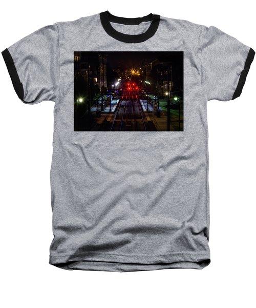 Night Tracks Baseball T-Shirt
