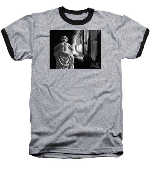 Night Train Baseball T-Shirt by Lyric Lucas