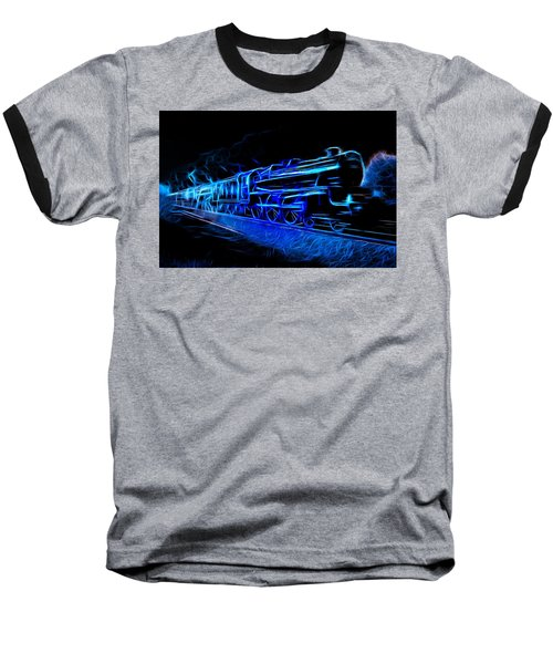 Baseball T-Shirt featuring the photograph Night Train To Romance by Aaron Berg