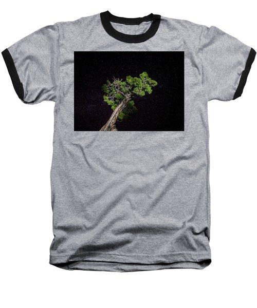 Night Tree Baseball T-Shirt