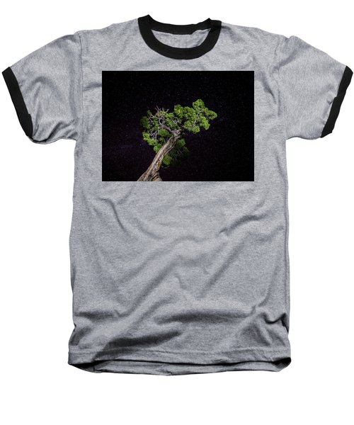 Night Tree Baseball T-Shirt