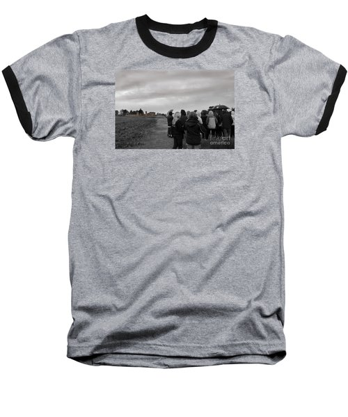 Night Vision Ghost Story In Bradgate Park. Baseball T-Shirt by Linsey Williams