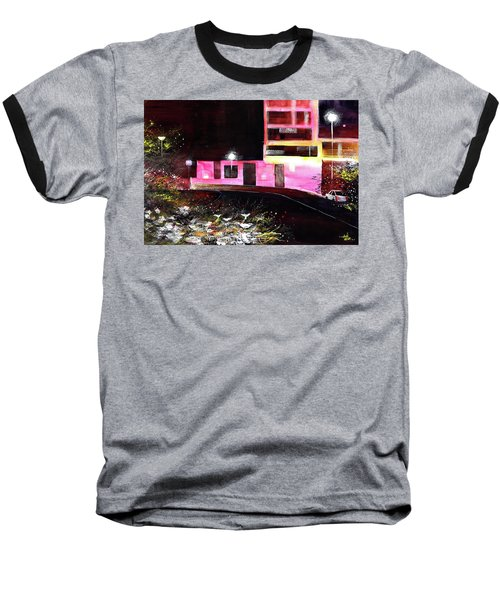 Baseball T-Shirt featuring the painting Night Walk by Anil Nene