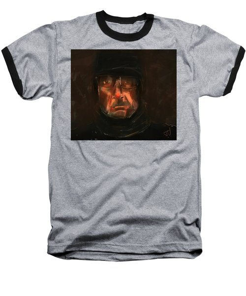 Baseball T-Shirt featuring the painting Night Watch by Jim Vance