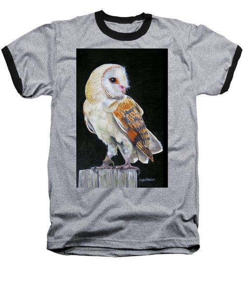 Night Watch Baseball T-Shirt by Phyllis Beiser