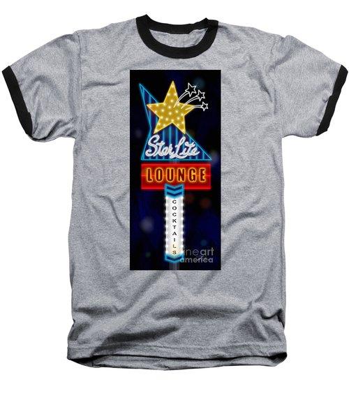 Nightclub Sign Starlite Lounge Baseball T-Shirt