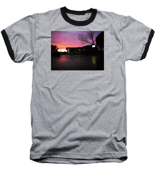 Baseball T-Shirt featuring the photograph Nightfall by Adria Trail