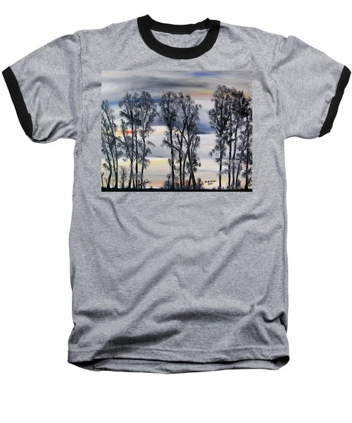 Baseball T-Shirt featuring the painting Nightfall Approaching by Marilyn  McNish
