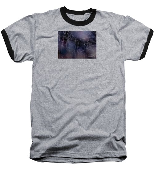 Baseball T-Shirt featuring the photograph Nightfall In The Woods by Sandy Moulder