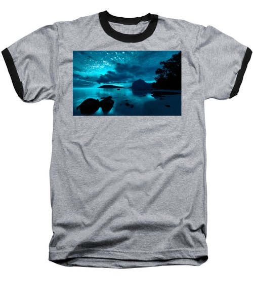 Nightfall Near Le Morne Baseball T-Shirt